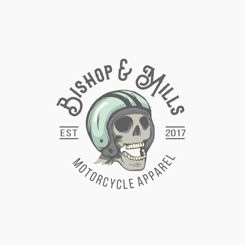 Biker design with the title 'Logo for Motorcycle Apparel'