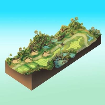 Dinosaur Themed Golf Course Concept