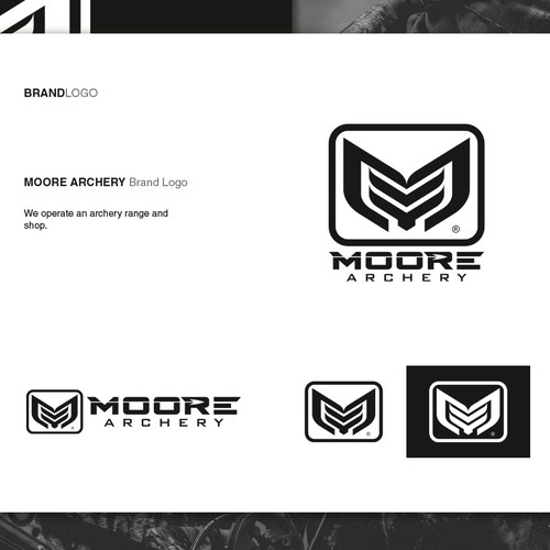 Tactical logo with the title 'Logo design for Moore Archery'