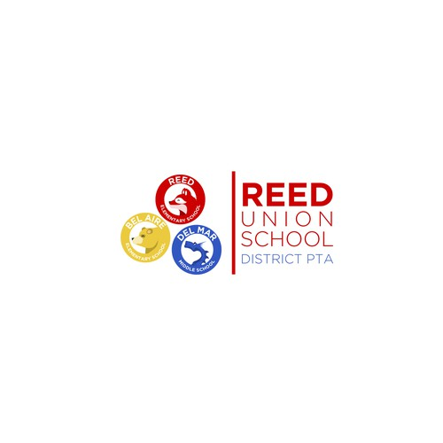Raccoon logo with the title 'Reed Union School - Logo design'