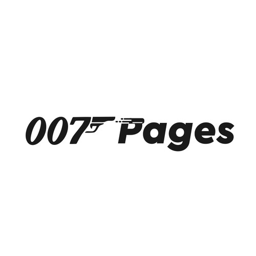 Spy design with the title '007 Pages'