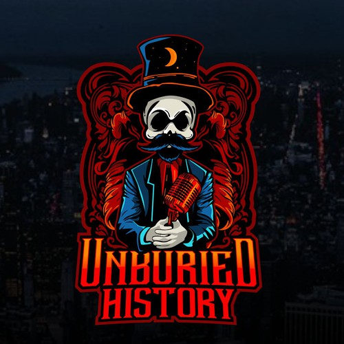 Skeleton logo with the title 'UNBURIED HISTORY'