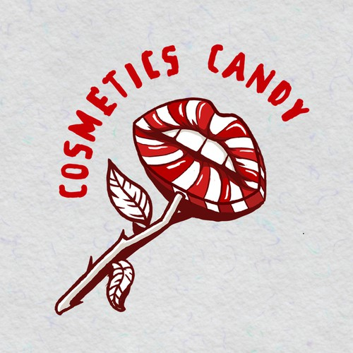 Lip logo with the title 'cosmetic candy logo'