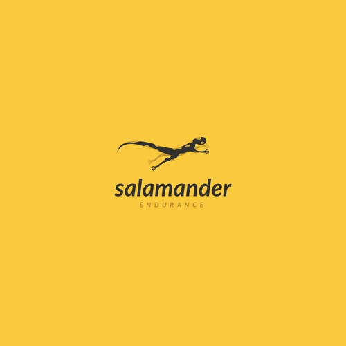 Jumping logo with the title 'Salamander'