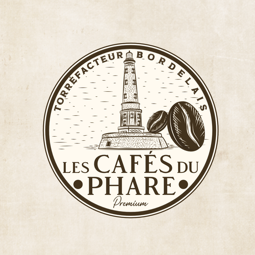 Roaster logo with the title 'French coffee roaster logo design'