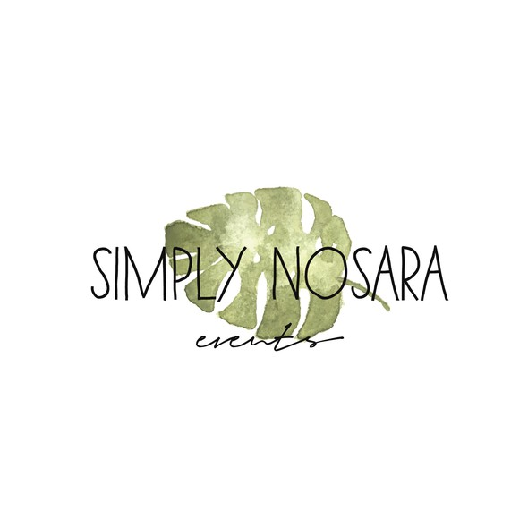 Watercolor logo with the title 'Boho chic logo for a wedding planner'
