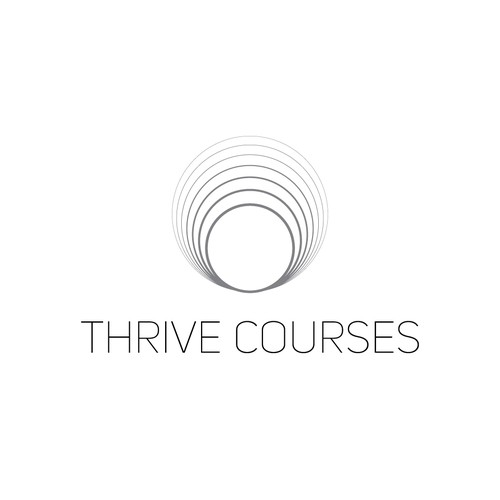 Online course logo with the title 'THRIVE COURSES'