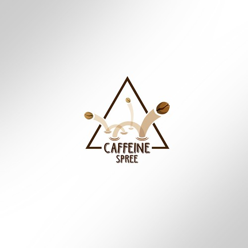 Roaster logo with the title 'Caffeine Spree'