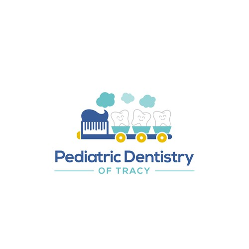 Train logo with the title 'Logo Pediatric Dentistry of Tracy'
