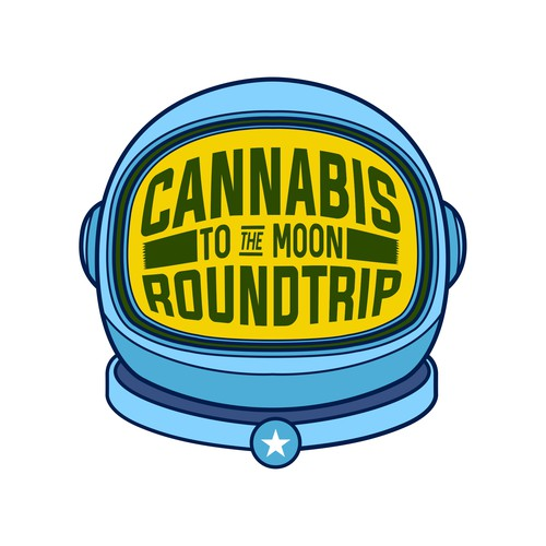 Helmet brand with the title 'Cannabis product logo proposal'
