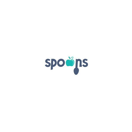 Spoon logo with the title 'Spoons logo'