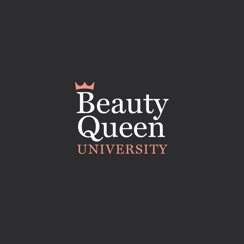 Queen logo with the title 'Beauty Queen University'