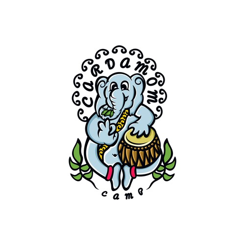 Esport brand with the title 'elephant mascot stlye'
