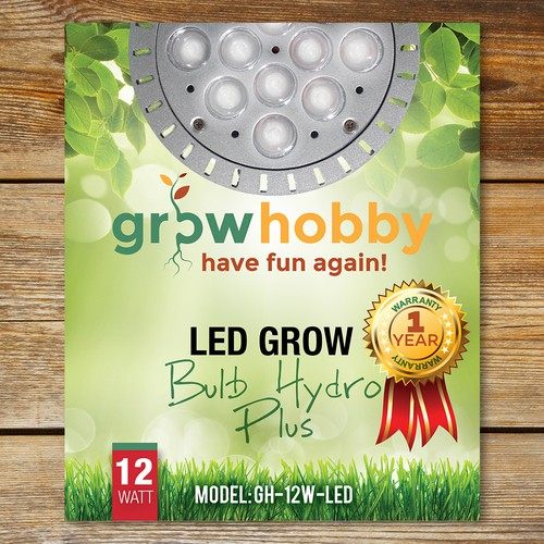 Hobby design with the title 'Box Labels for Hydroponic Light'