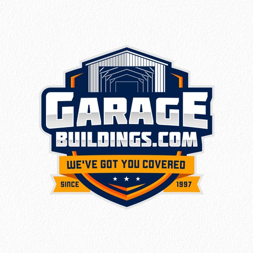 Garage design with the title 'Logo Re-Branding For National Building Supplier'