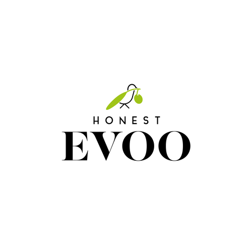 Olive logo with the title 'Logo for Extra Vergine Olive Oli - Honest Evoo'