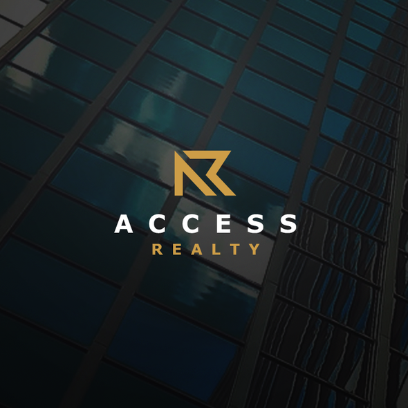 Initial logo with the title 'Logo for Real Estate'