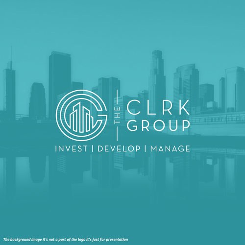 Building design with the title 'CLRK GROUP'