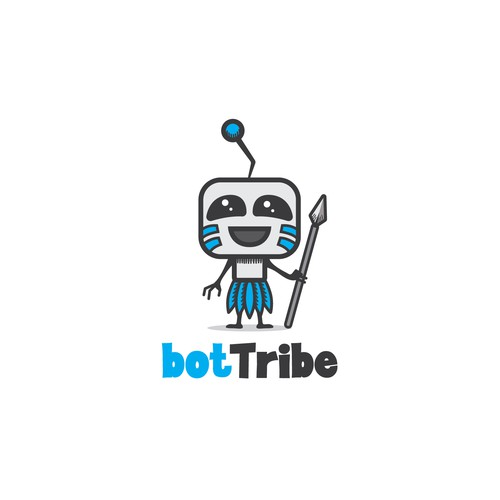 Tribal lion logo with the title 'Logo for bot tribe community'
