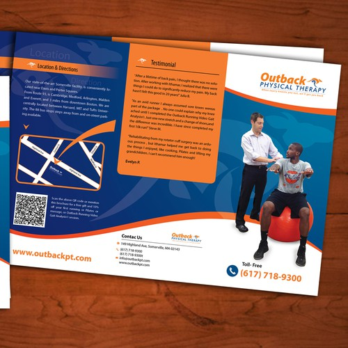 Physical therapy design with the title 'Trifold Brochure'