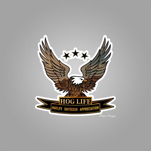 Hog design with the title 'HOG LIFE NATURE logo'