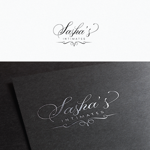 Cursive logo with the title 'Logo for Sasha's lingerie'