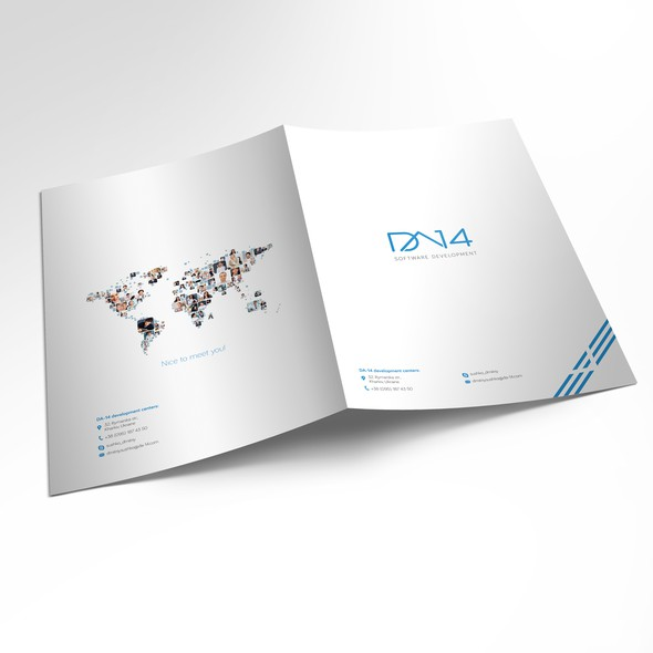 Appealing design with the title 'Brochure for software development company'