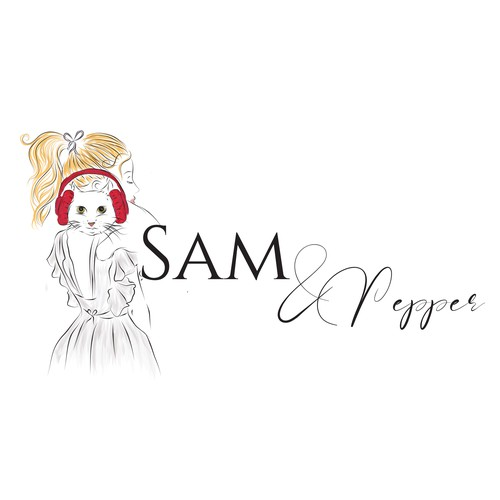 Sketching logo with the title 'logo concept for Sam&Pepper'