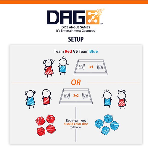 Board game illustration with the title 'DAGZ Board Game Tutorial'