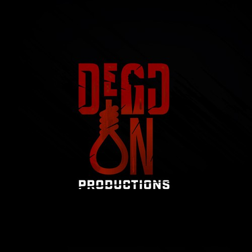 Horror logo with the title 'DEAD ON PRODUCTIONS LOGO DESIGN'