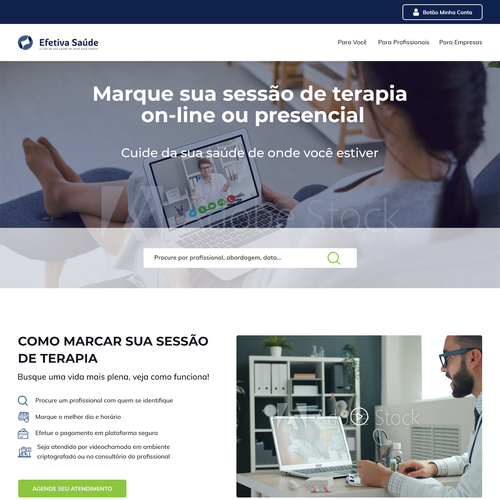 Communication website with the title 'Digital platform created to connect people who want to take care of health and well-being.'