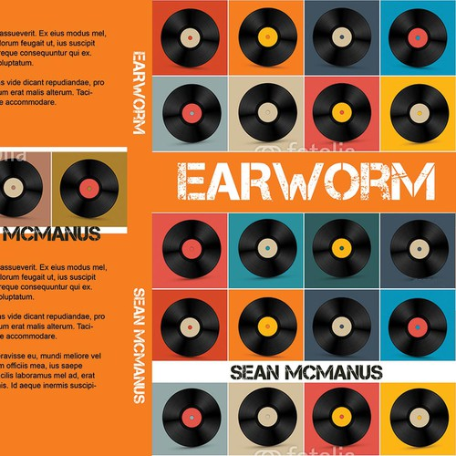 Music book cover with the title 'earworm book cover'
