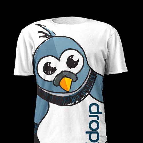 Bird t-shirt with the title 'Dropy T-shirt Design'