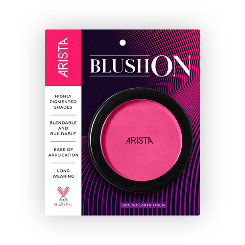 Print label with the title 'Cosmetic Packaging'