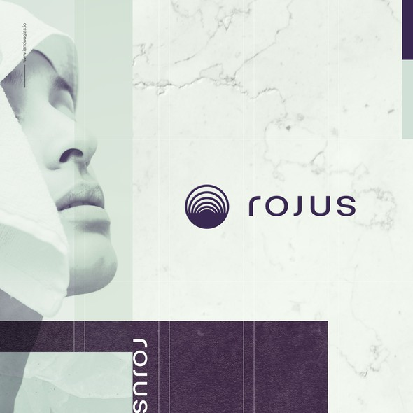 Home decor logo with the title 'Abstract mark for Rojus'