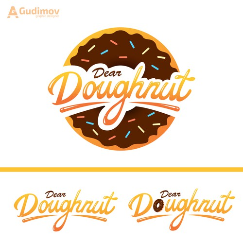 Yummy logo with the title 'Dear Doughnut logo'