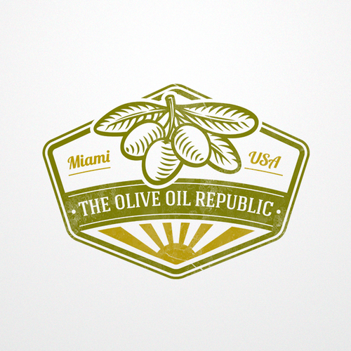 Farm logo with the title 'Olive oil '