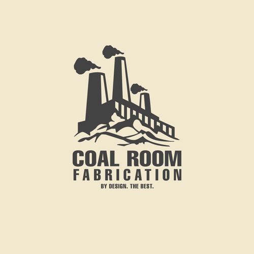 Dirty logo with the title 'Coal Room Factory logo'