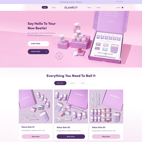 Nail design with the title 'Shopify and Wordpress theme'