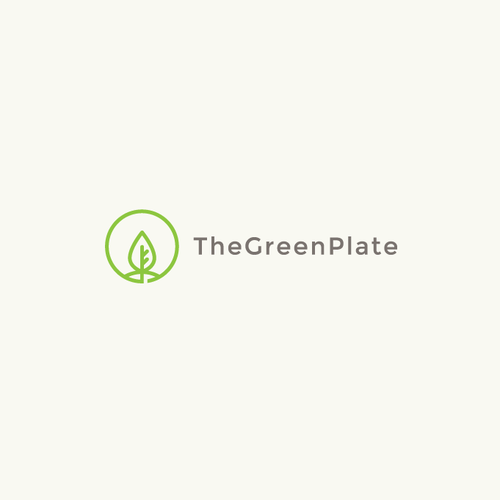 Vegan logo with the title 'TheGreenPlate'