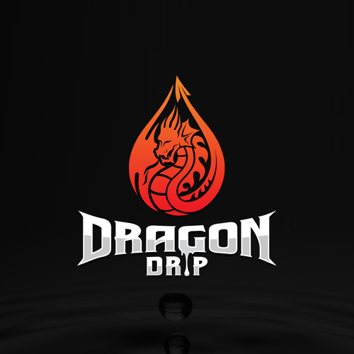 Dragon logo with the title 'Logo design for Online Vape Store'
