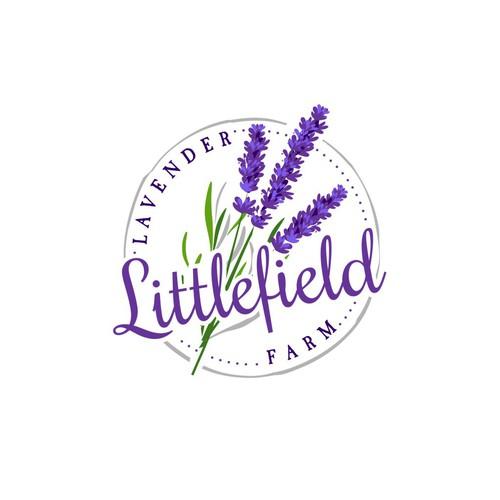 Lavender design with the title 'Logo concept for lavender farm'