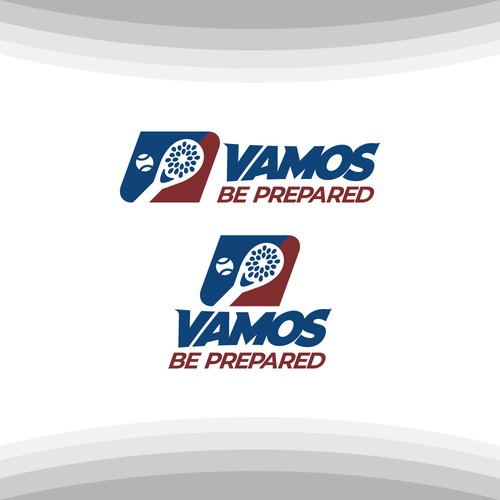 Tennis ball design with the title 'VAMOS - BE PREPARED'