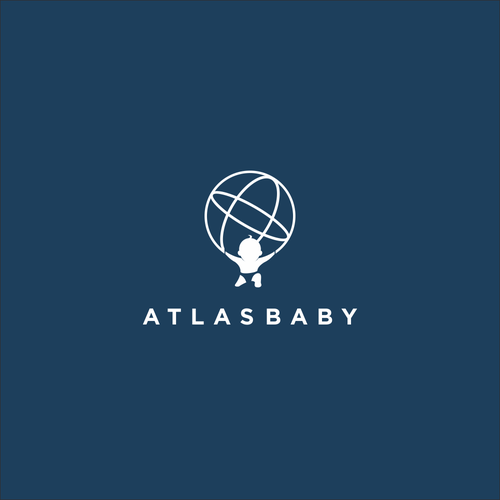 World map logo with the title 'Atlas Baby'