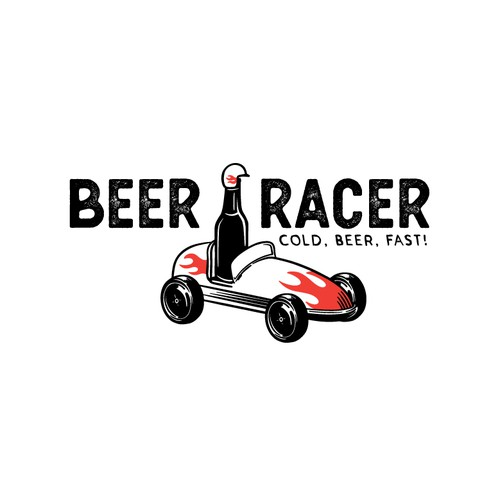 Cantina logo with the title 'Beer Racer Logo'