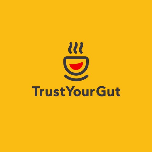 Marketplace logo with the title '«TrustYourGut» logo'