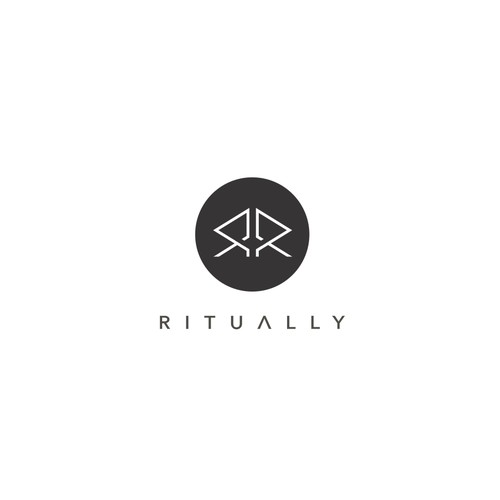 Symmetrical logo with the title 'Ritually'