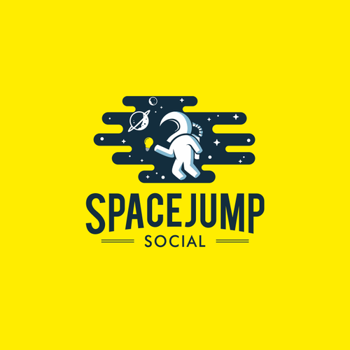 Leap logo with the title 'Fun logo for nifty social media company'