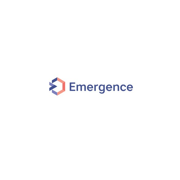Emergency design with the title 'Abstract E - arrow -hexagon combo'
