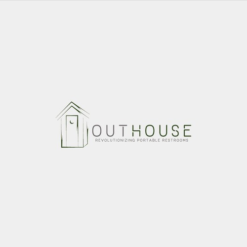 Toilet logo with the title 'OutHouse'